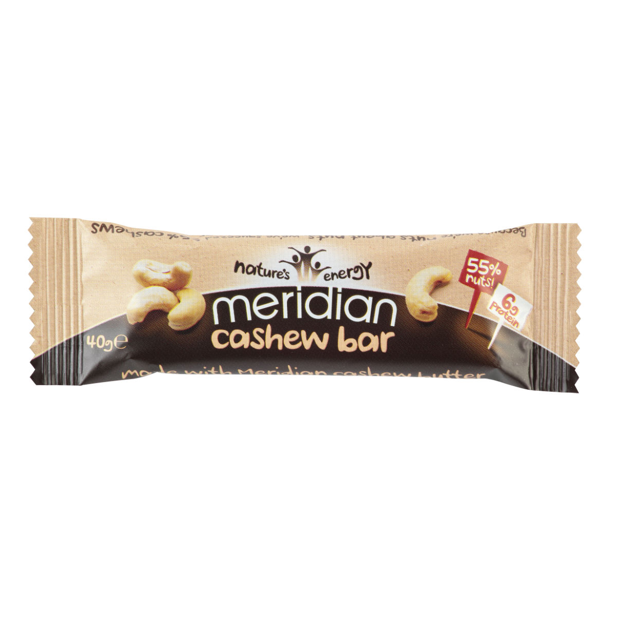 Meridian Cashew Bar (18 x 40g)   Energy & Recovery Food