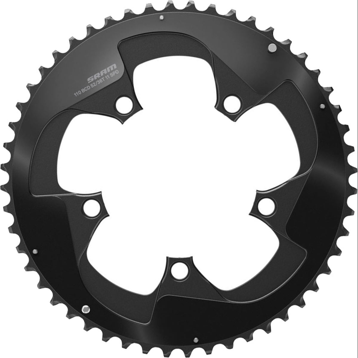 Sram Red X-glide Road Chain Ring - 52t Black  Chain Rings