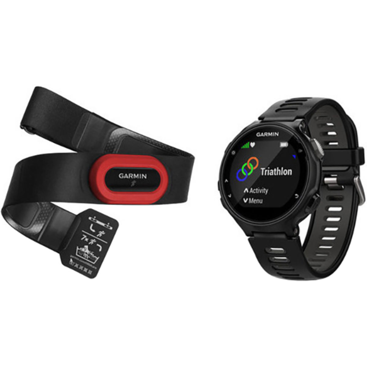 Garmin Garmin Forerunner 735XT GPS Watch HRM Bundle   Watches