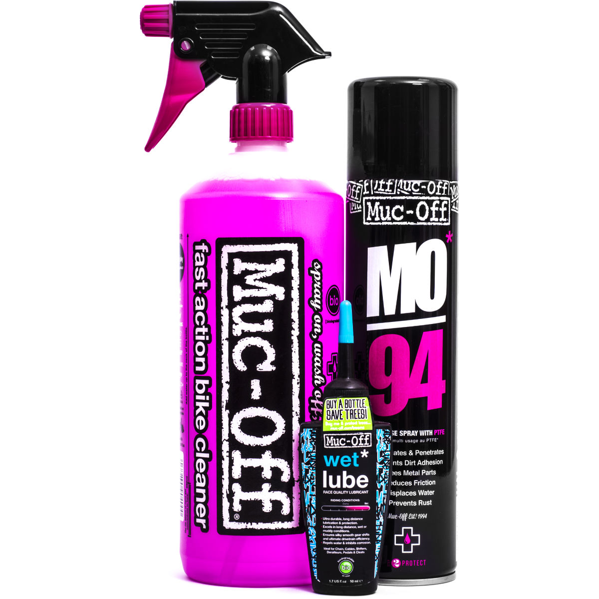 Muc-Off Wash, Protect and Lube Kit   Cleaning Products