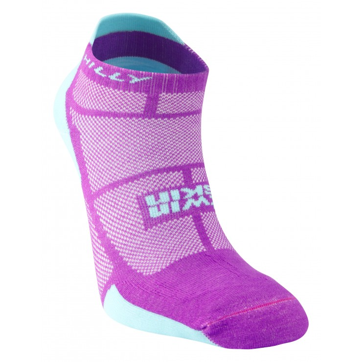 Hilly Twin Skin Womens Dual Layer Vented Anti Blister Running Socklet Socks