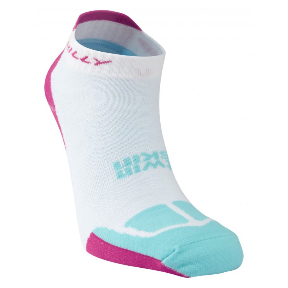 Image of Chaussettes Femme Hilly TwinSkin - M White/Pink/Aqua | Chaussettes