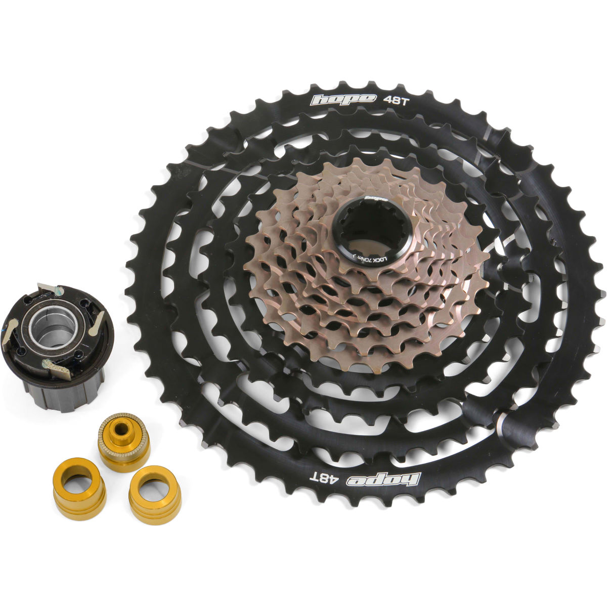 Hope 11 Speed Cassette With Pro 4 Freehub - 10-48t 11 Speed Black