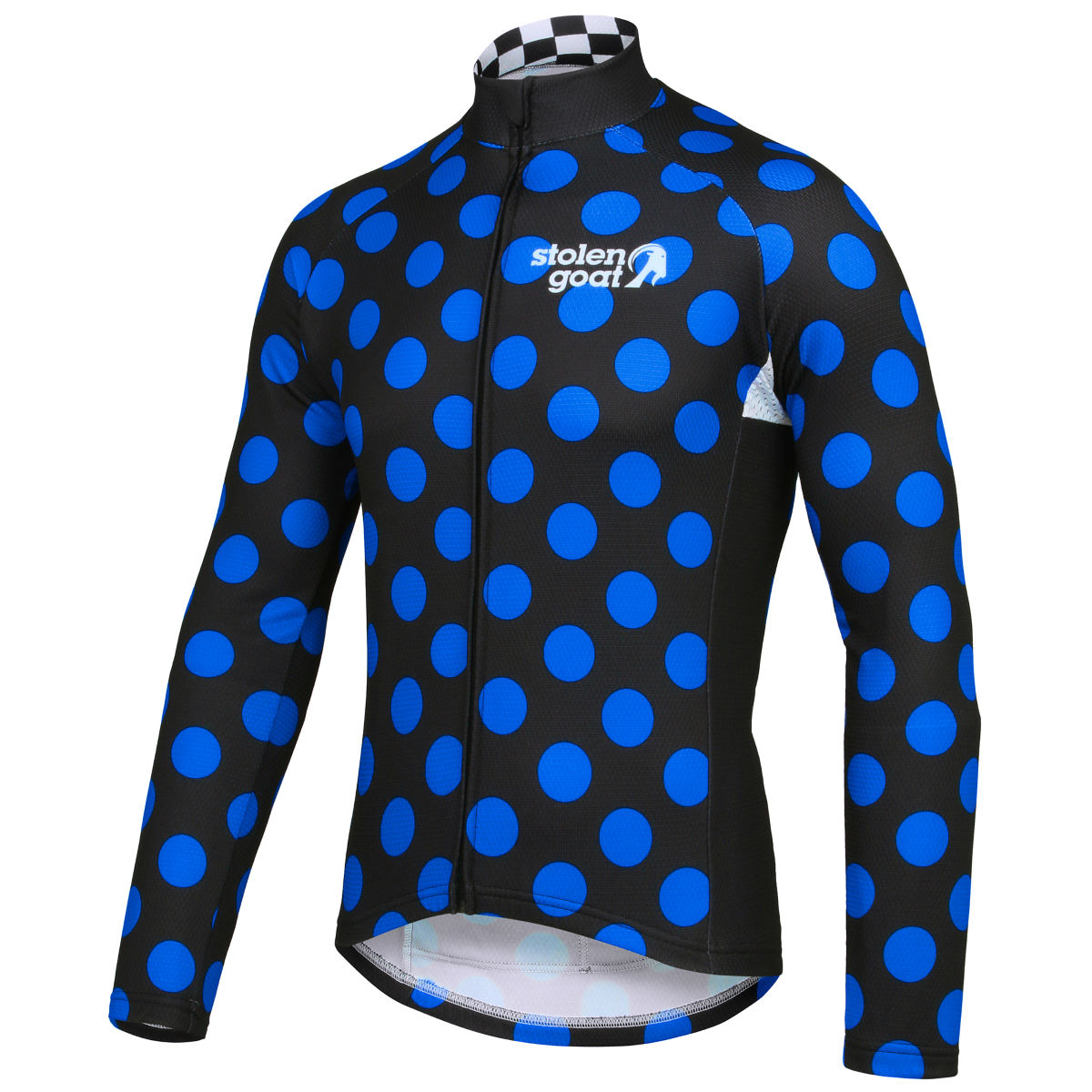 Stolen Goat Exclusive Polka Dot Thermal Long Sleeve Jersey   Long Sleeve Cycling Jerseys