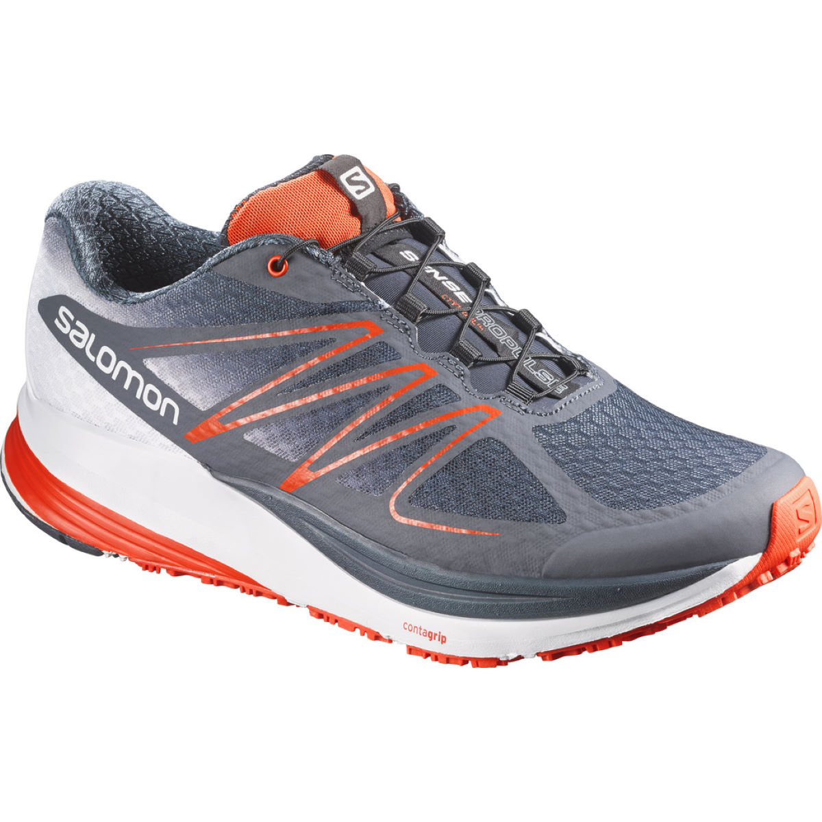 Salomon sense propulse offroad running shoes grey red clearance l37260700 3