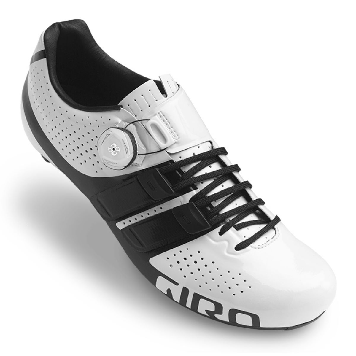 Giro factor techlace road shoes road shoes white black 2018 gisfte840 2