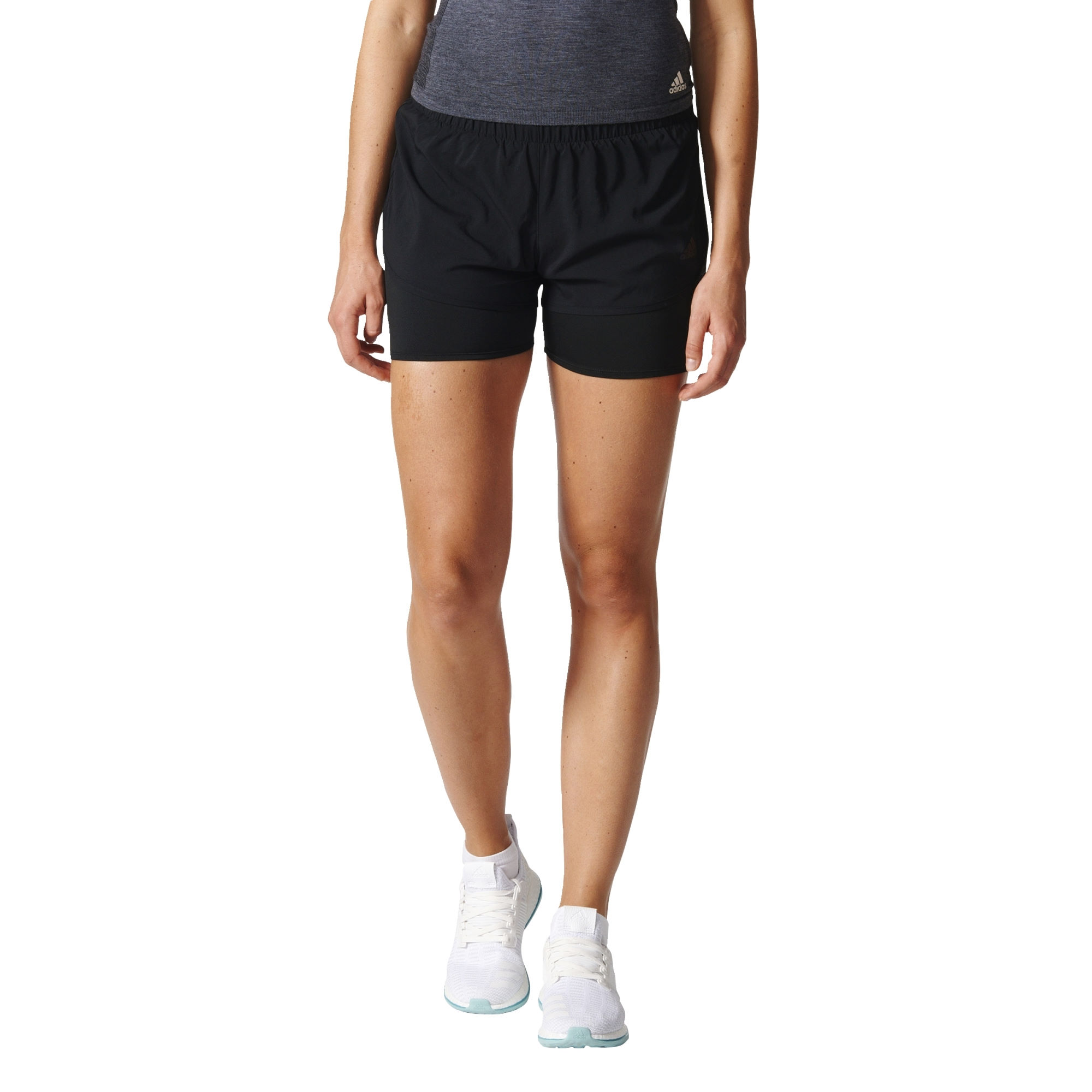 wiggle adidas women 39 s m10 dual short ss17 running shorts. Black Bedroom Furniture Sets. Home Design Ideas