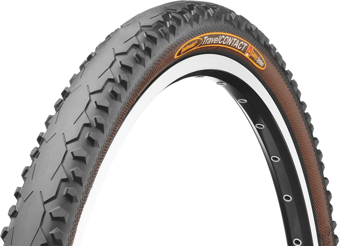 Continental Contact Travel Bicycle Cycle Bike Reflex Tyre Black