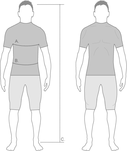 dnb mens form fit diagram