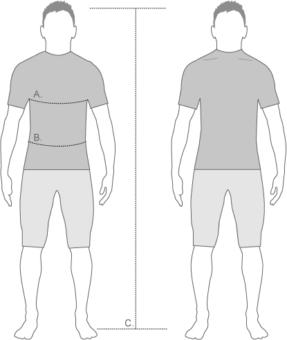 dhb Slim Fit Diagram