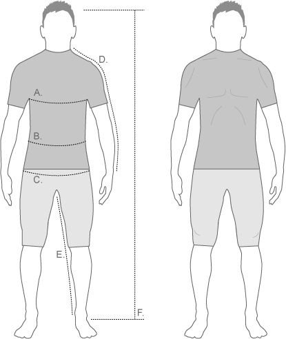 Northwave Mens Measure Diagram